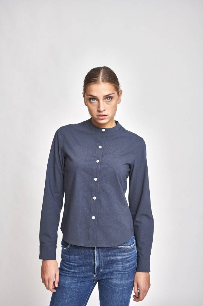 Janey blouse grey blue
