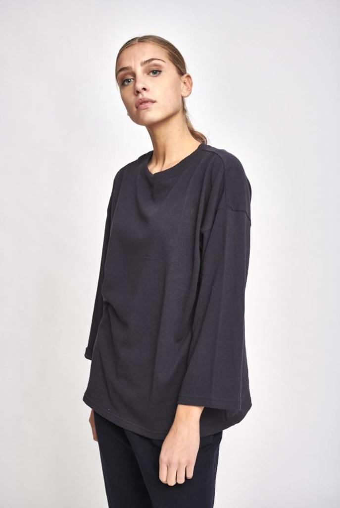 Loose t-shirt L/S Mala navy
