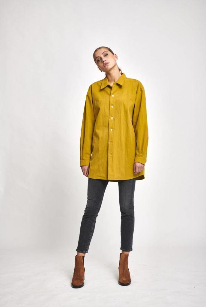 Unisex oversized shirt Mateo Mustard