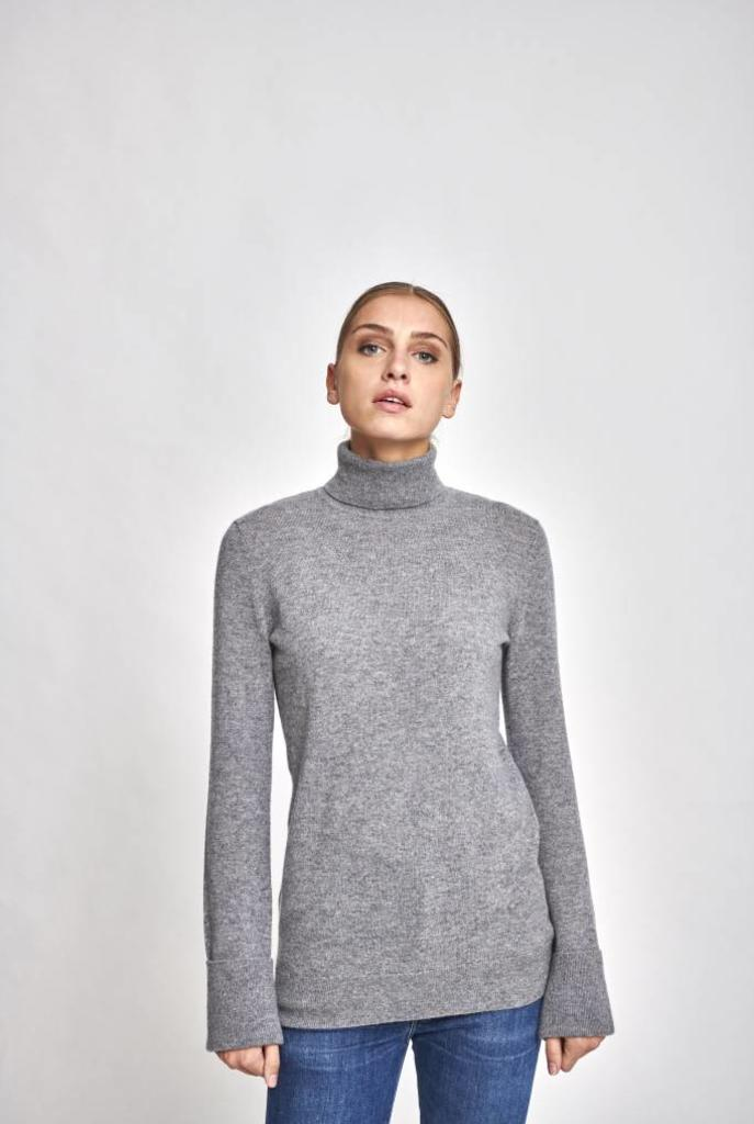 Ully turtle neck sweater heather grey