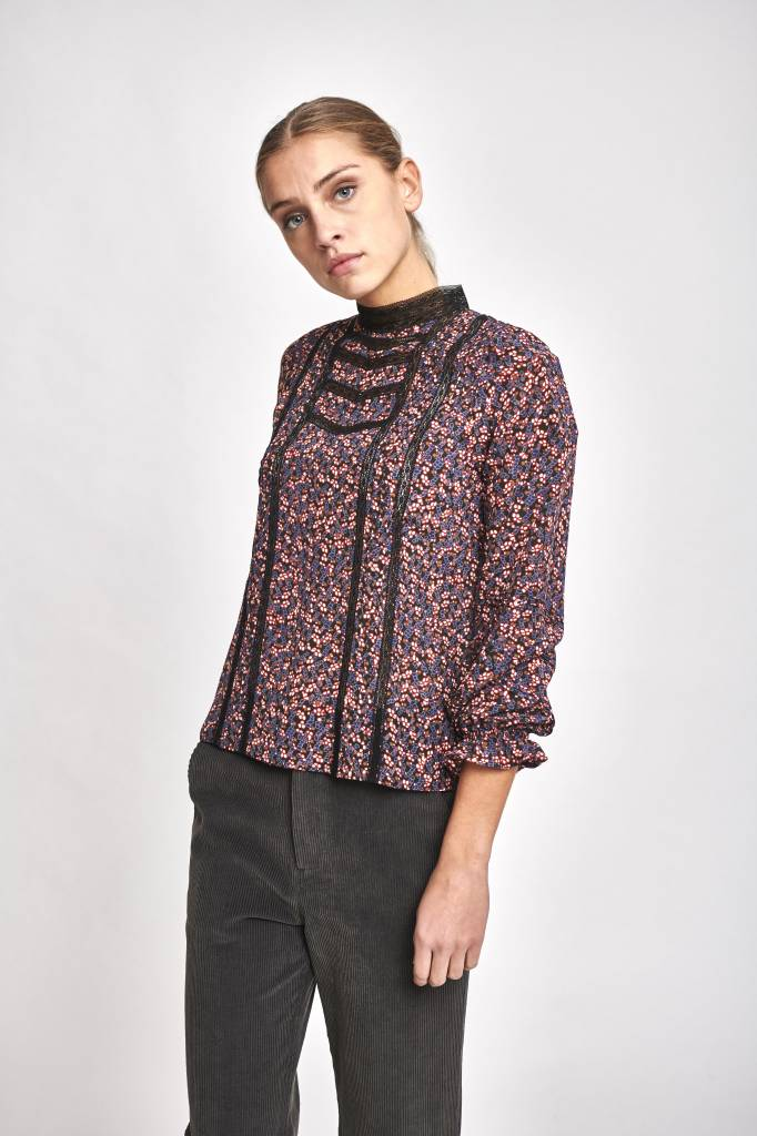 Joie blouse blueberry print