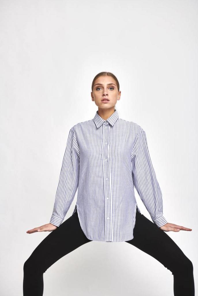 Heliane blouse navy stripe