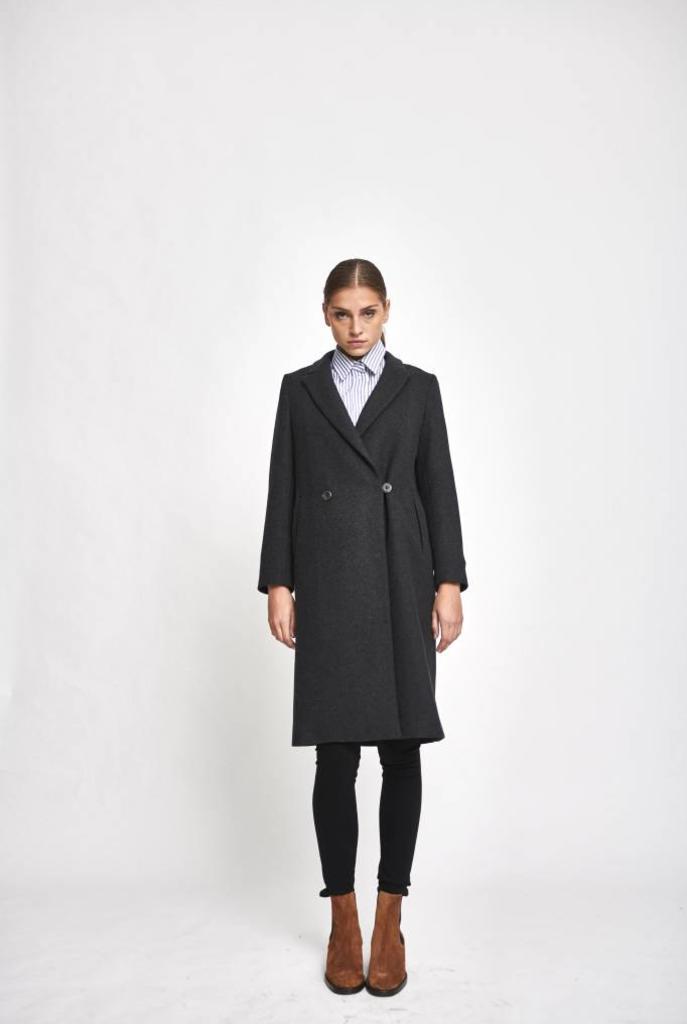 long coat grey wool