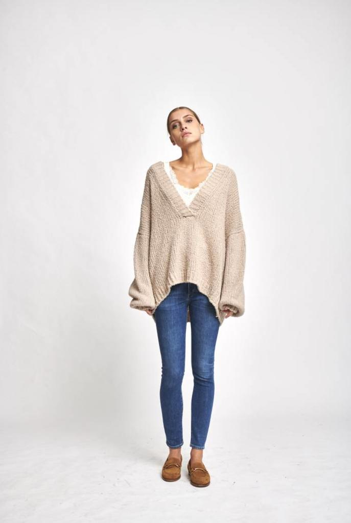 fog sweater big V