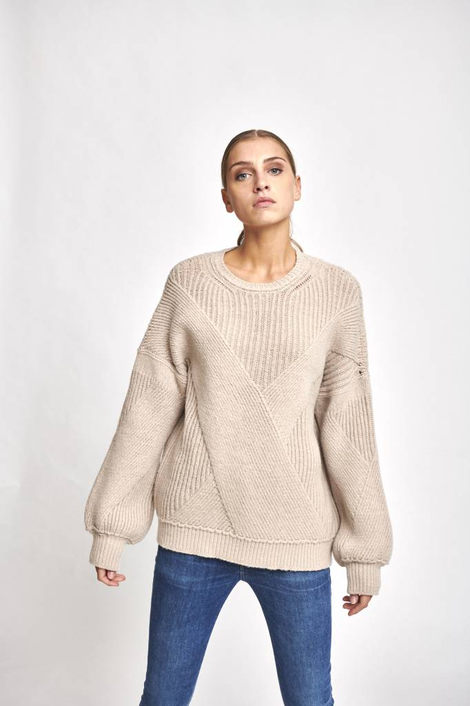 Cable sweater Iced coffee