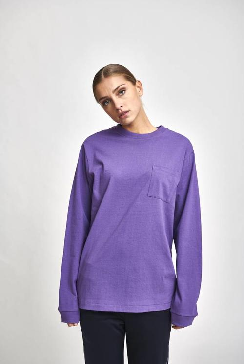 Longsleeve patchpocket purple