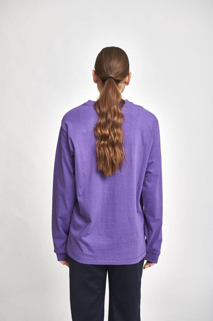 Longsleeve patchpocket purple