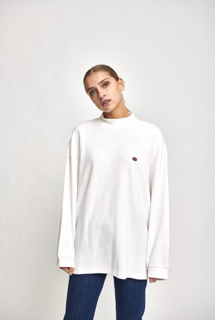 turtleneck long sleeve white