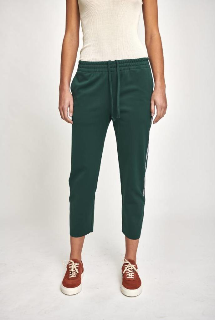 Track pants partial stripe green