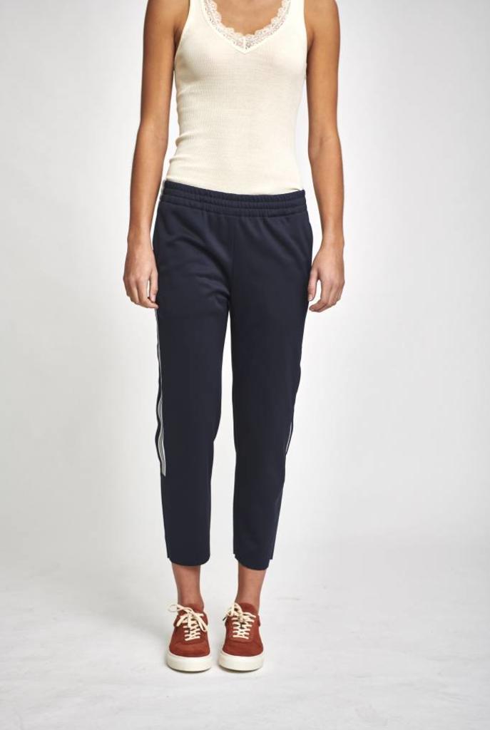 Track pants partial stripe blue