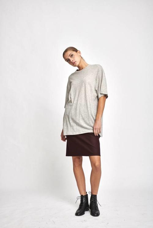 Oversized S/S shirt heather grey