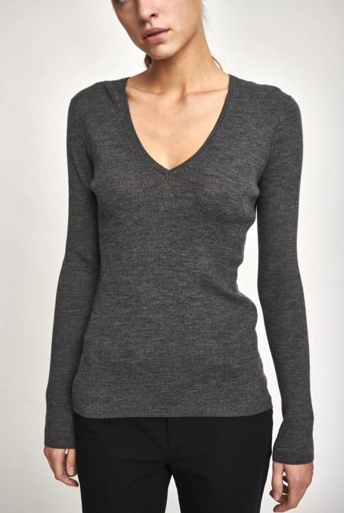 Fancy V pullover anthracite