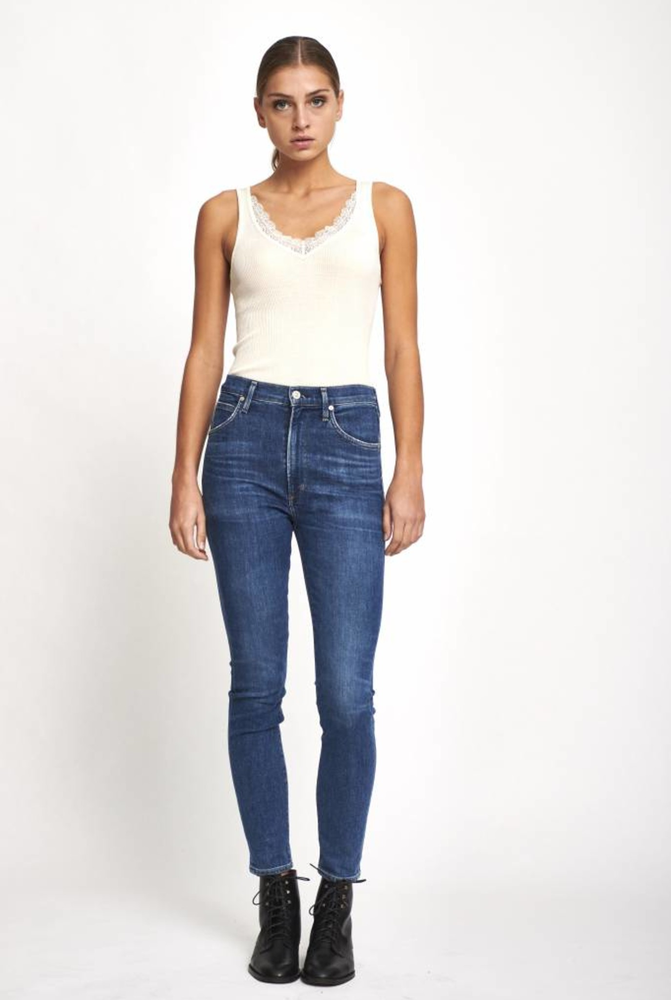 Chrissy uber high rise skinny jeans in hotline