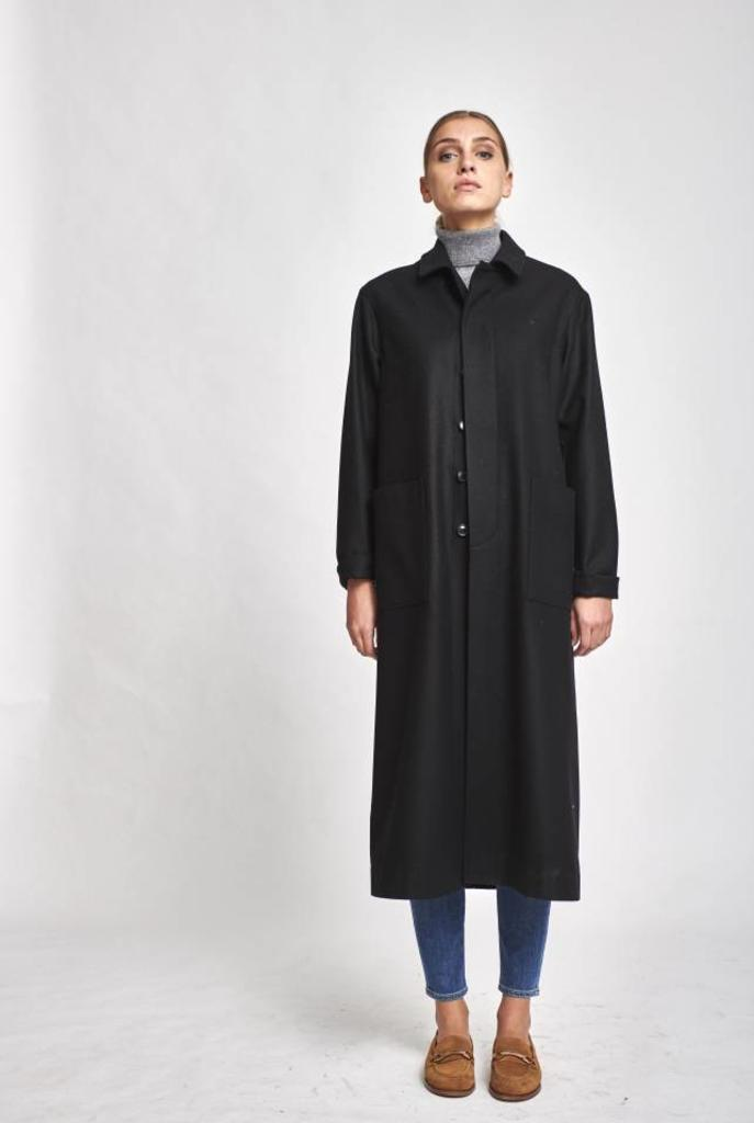 Easy long black loden