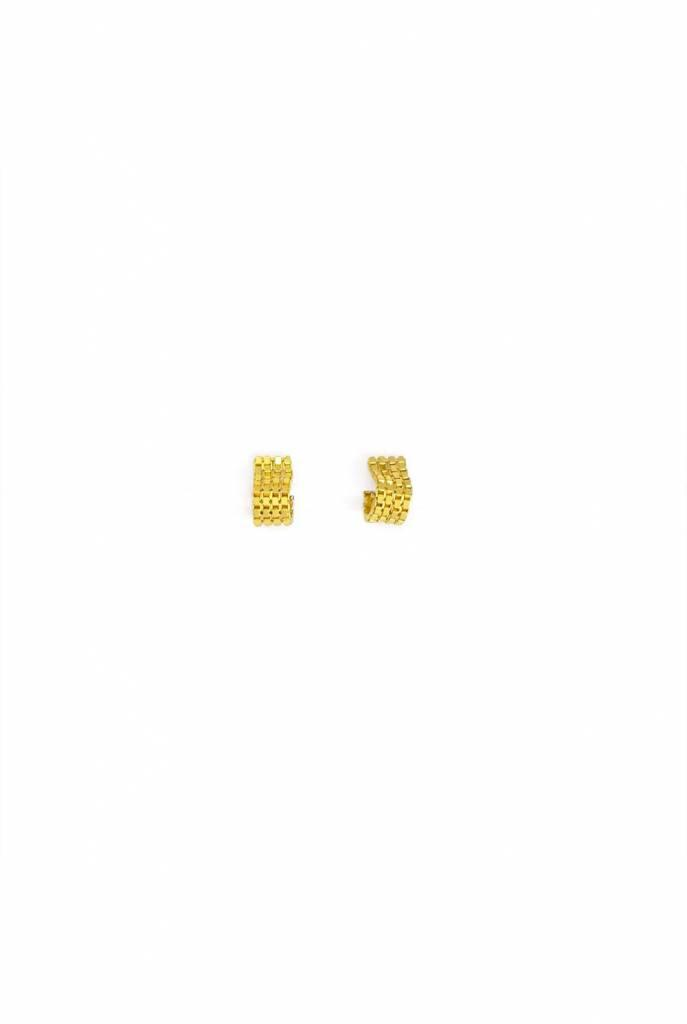Day or night earrings gold