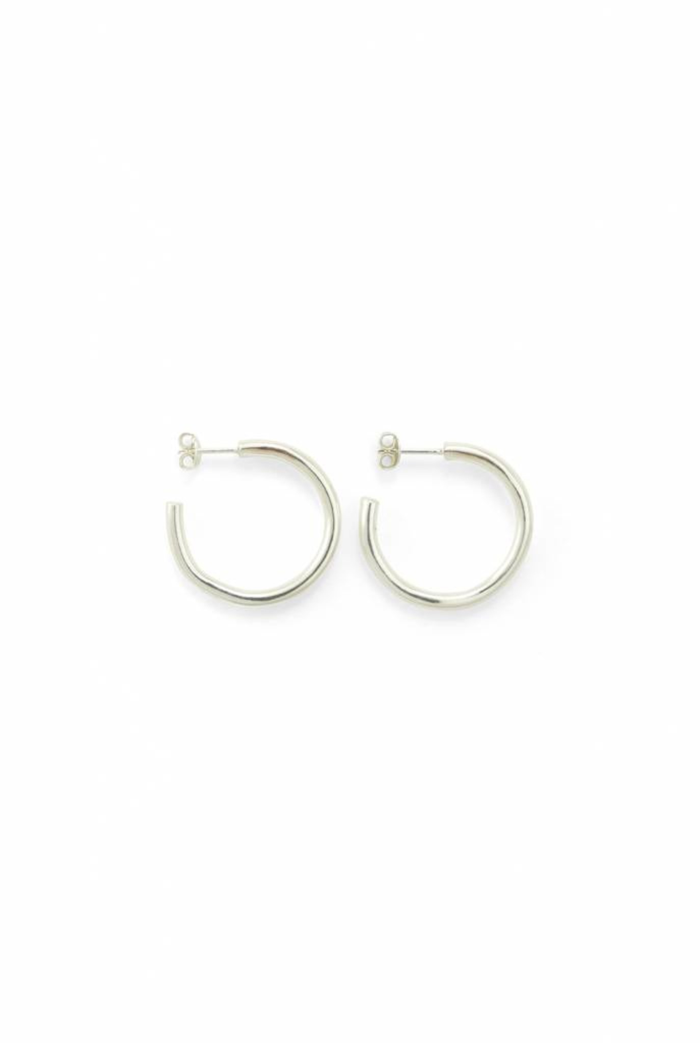 Trochus big earrings silver