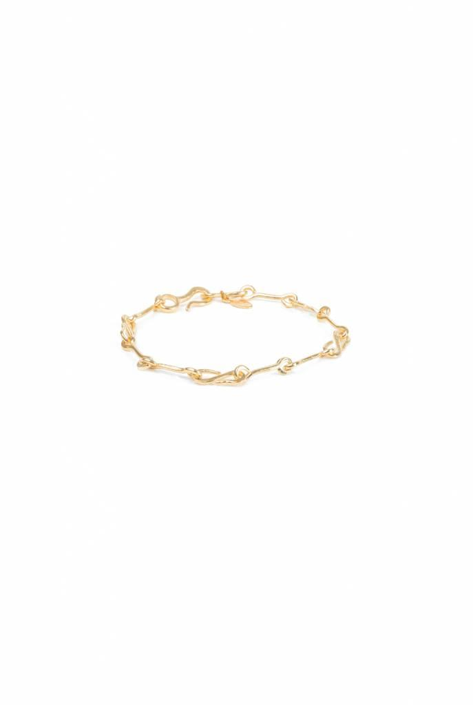 goldplated bracelet with knot chain