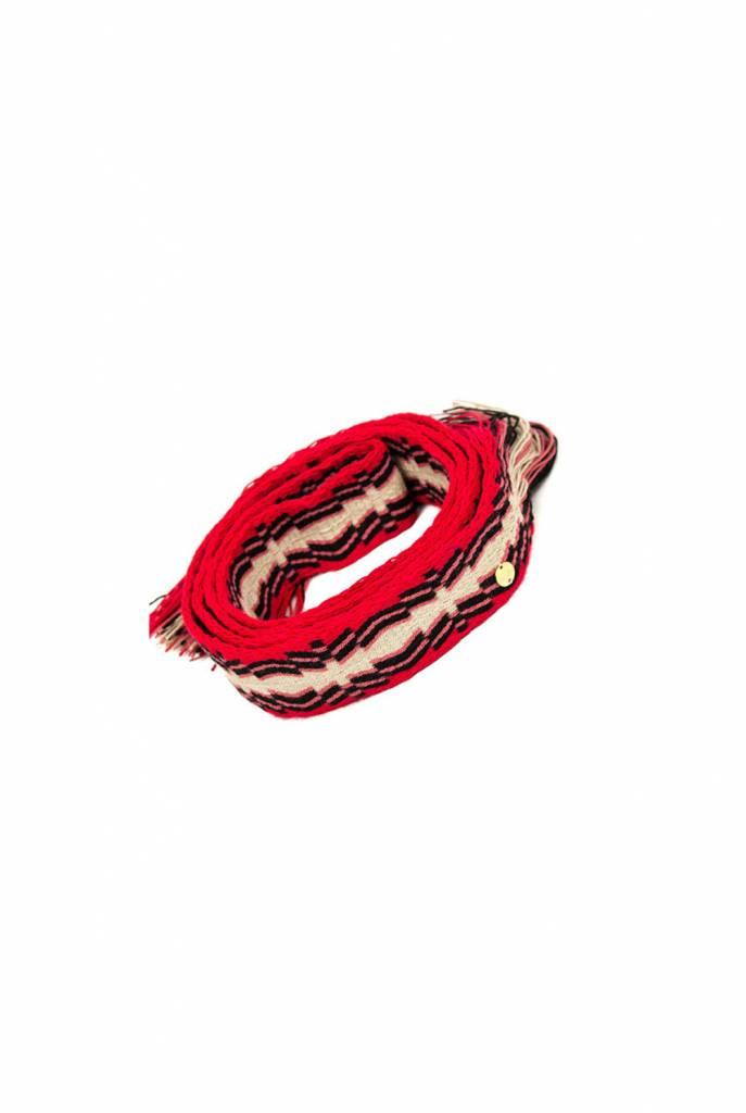 Belt red pink