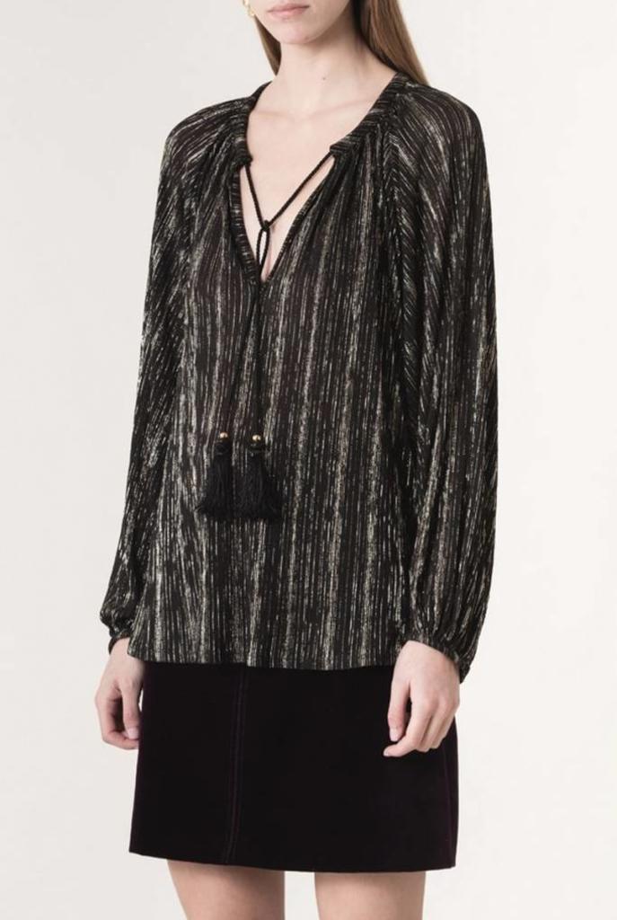 Iborra blouse black silver