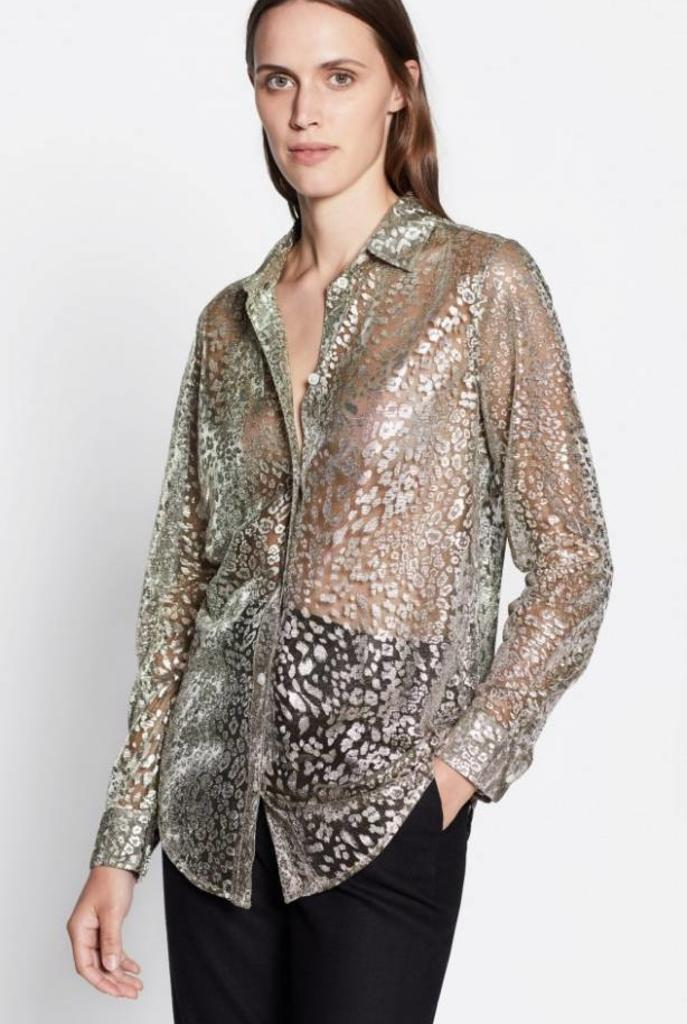 Essential blouse Metallic gold