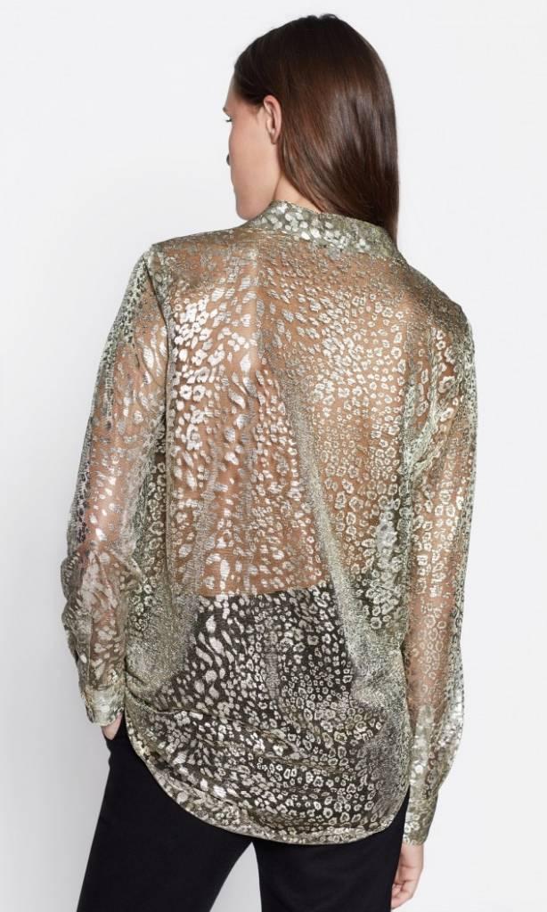 Essential blouse Metallic gold