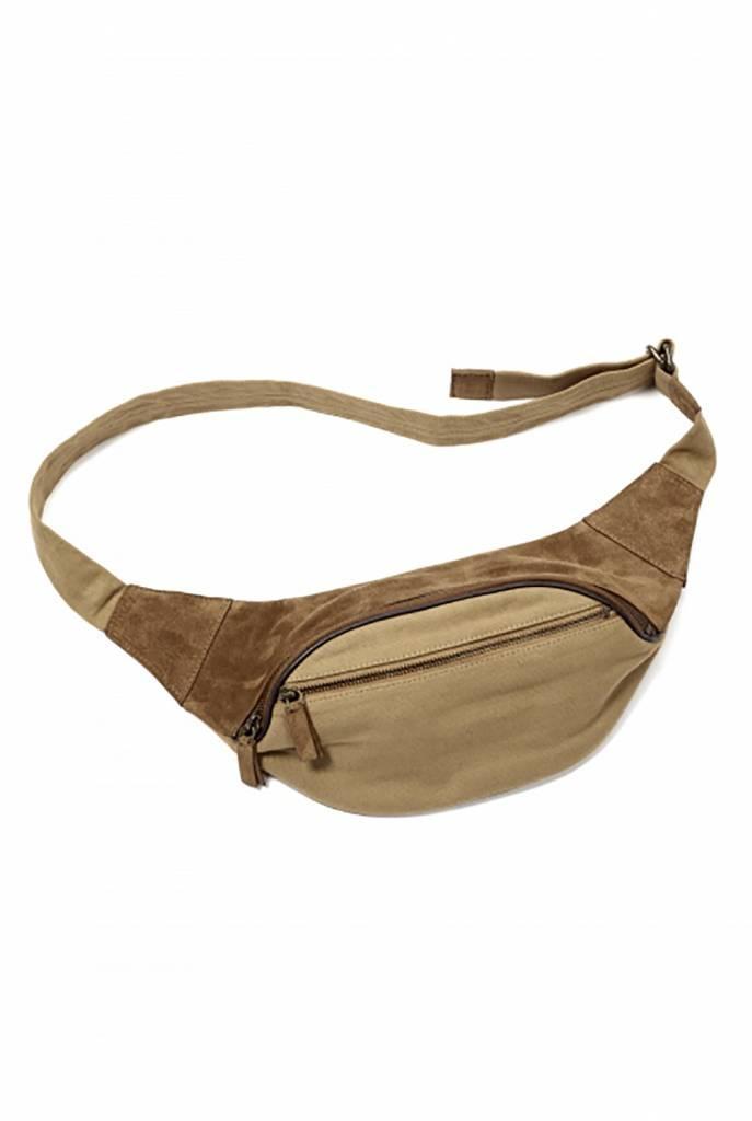 Waist bag brown suede