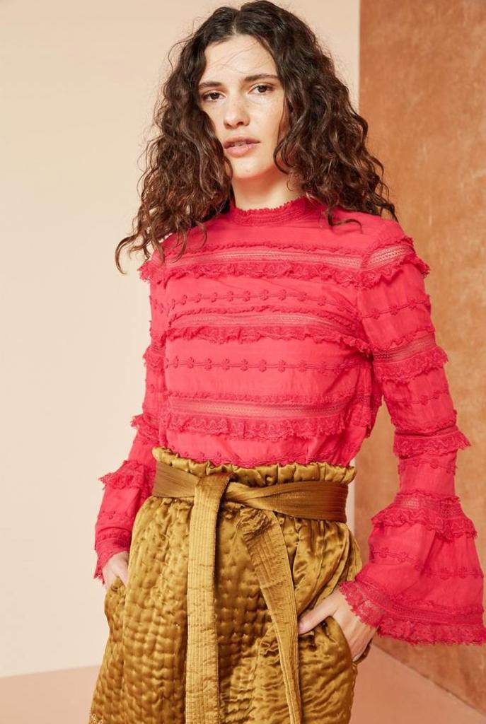 Grace blouse fuchsia