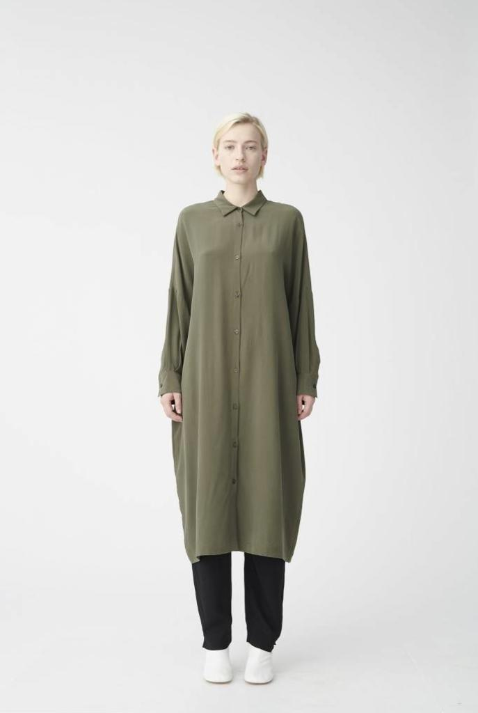 Tana long shirt Olive green