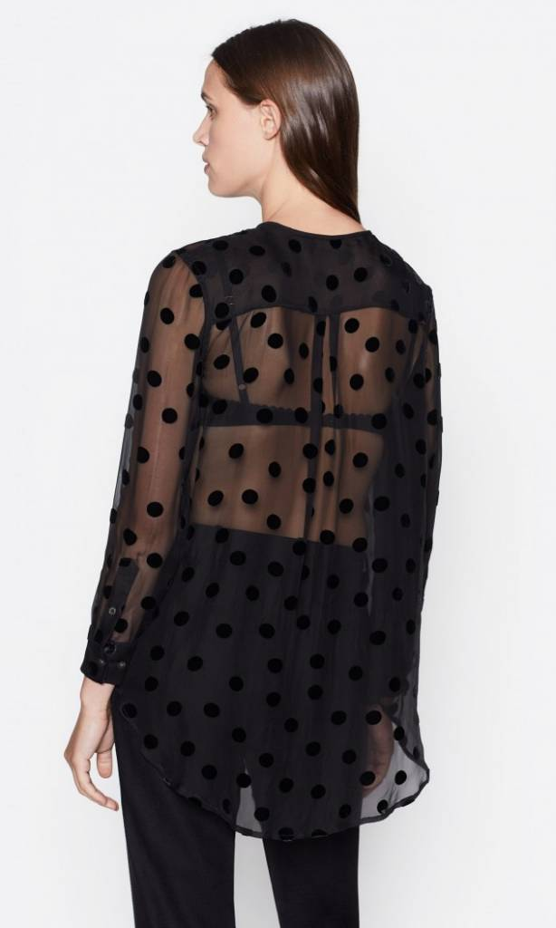 Simon blouse True Black dots