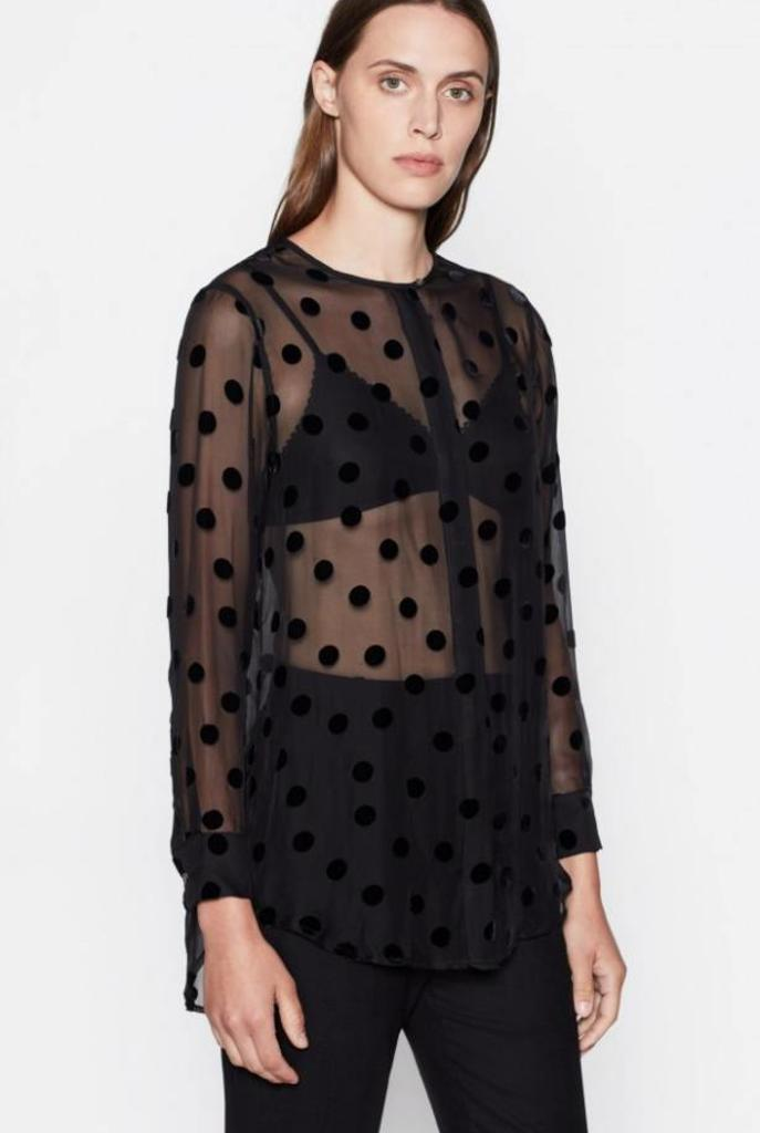 Simon blouse True Black dots