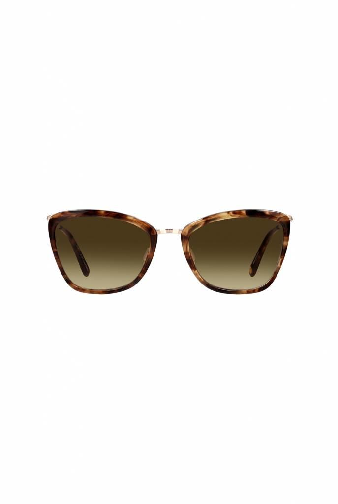 Louella sunglasses Brown Marble Tortoise-Gold/Semi-Flat Yellow Brown Gradient