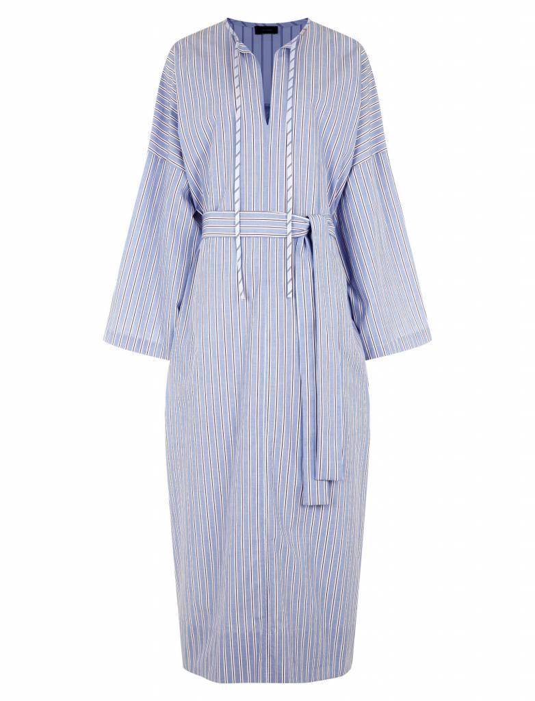 Koda dress red/blue stripe