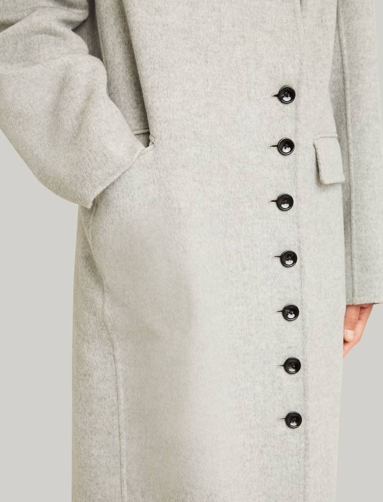 Double cashmere grey coat