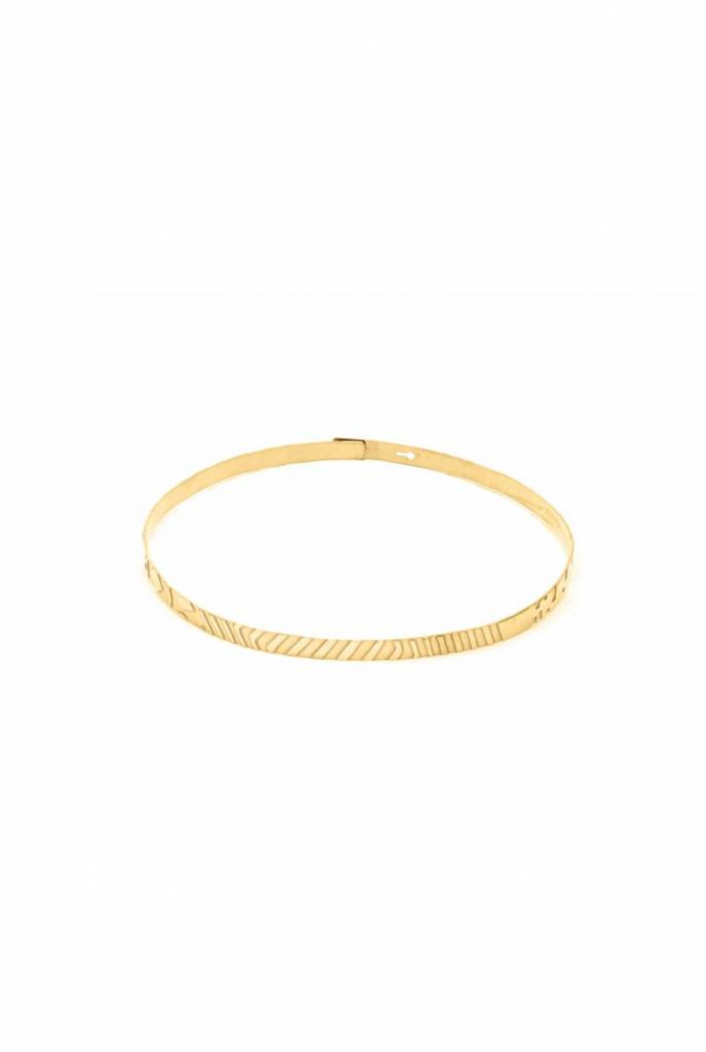 graphic elements choker necklace gold plated