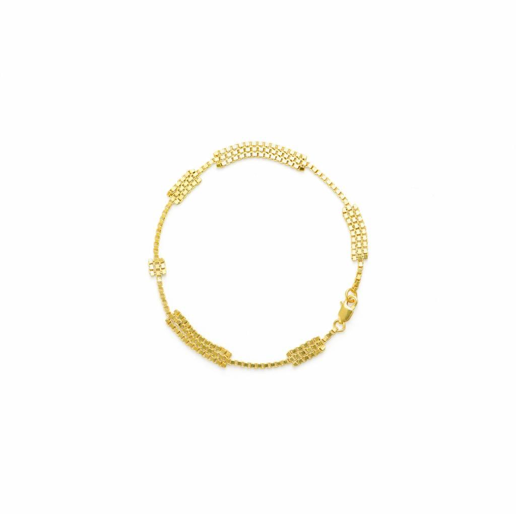 Spatium bracelet goldplated