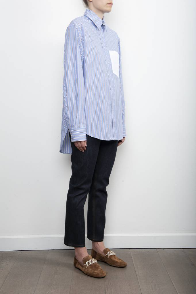 Gibson stripe blue/red blouse