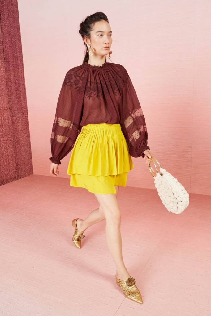Audrey blouse Umber