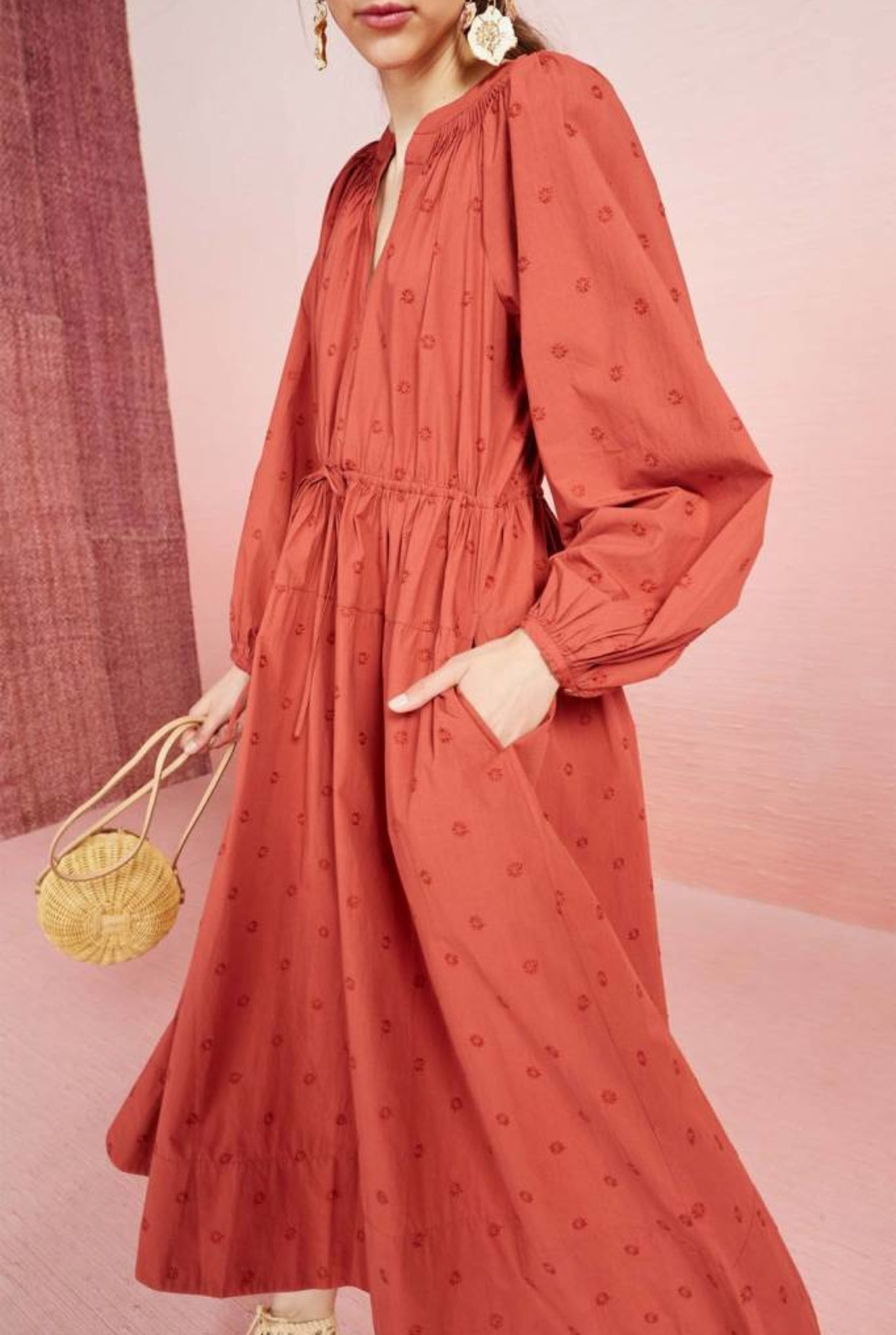 Judithe dress Marsala