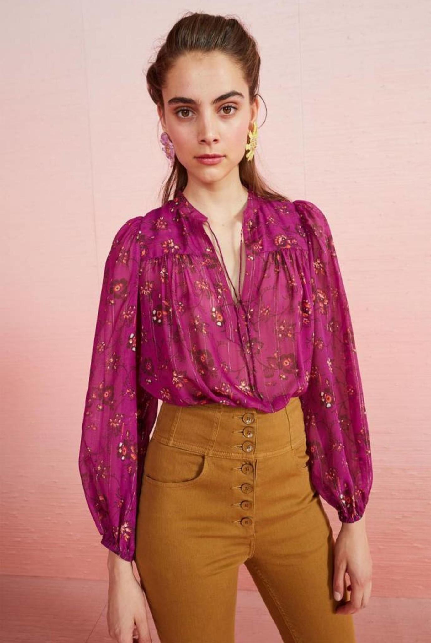 Constance blouse Magenta