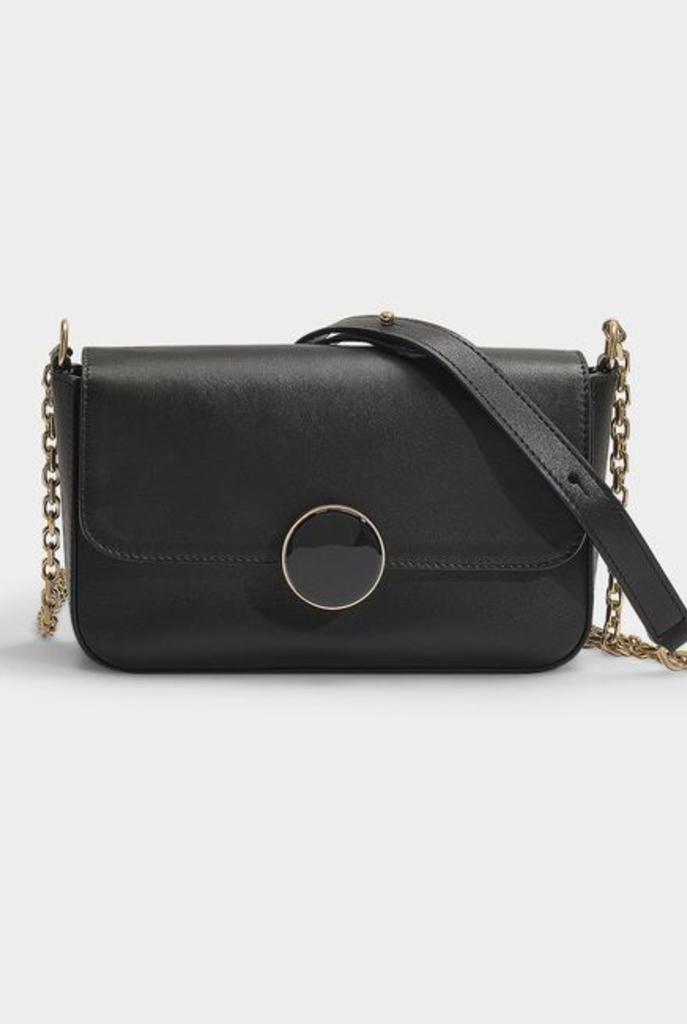 Moon rigide crossover handbag black