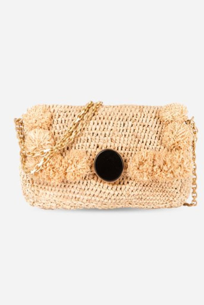 Moon raphia handbag natural