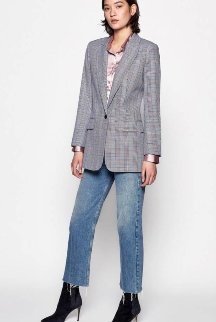 Jeanne blazer blue multi check