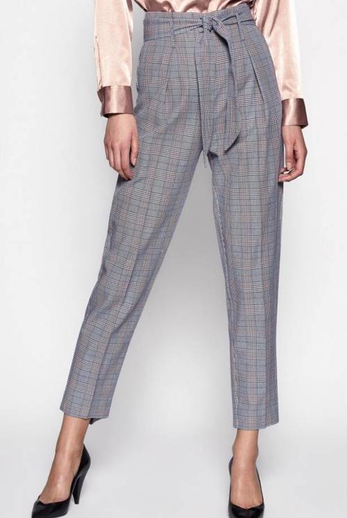 Marcelle trouser blue multi check