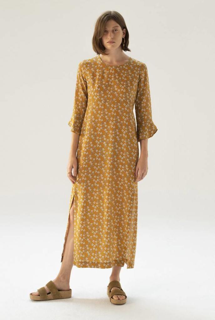 Loreva dress Ochre print