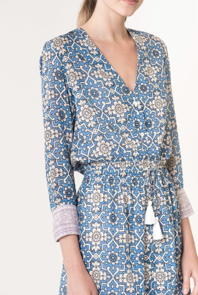 Ilko dress royal blue print