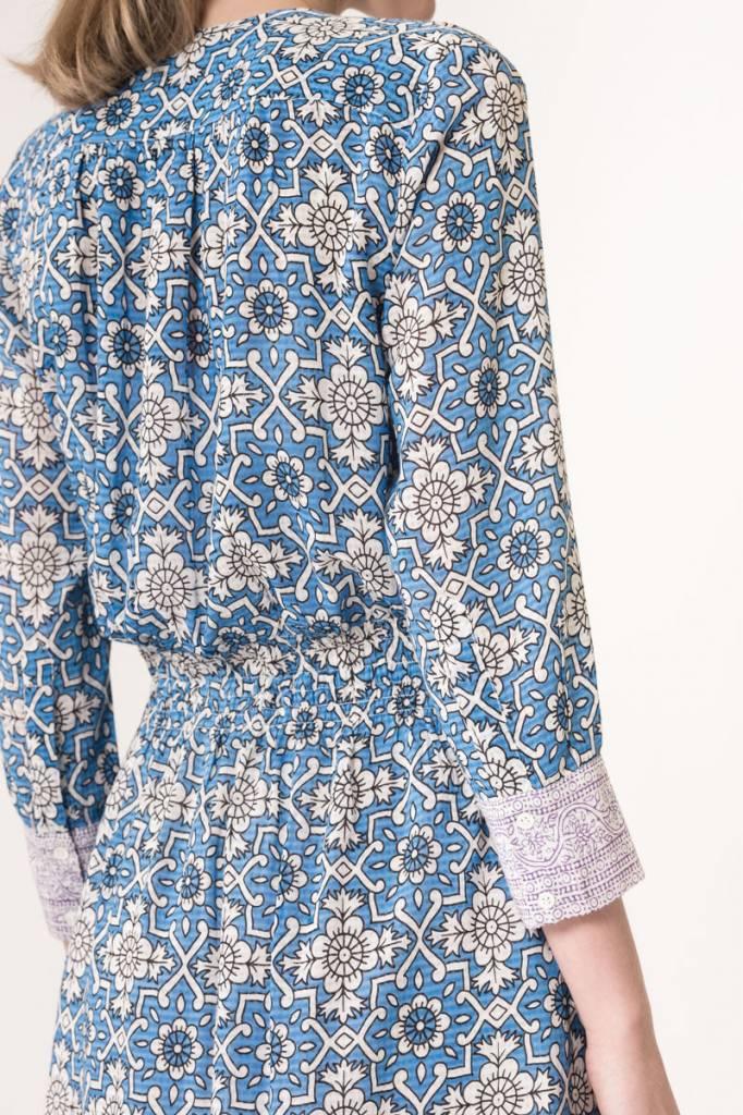Ilko dress royal blue print
