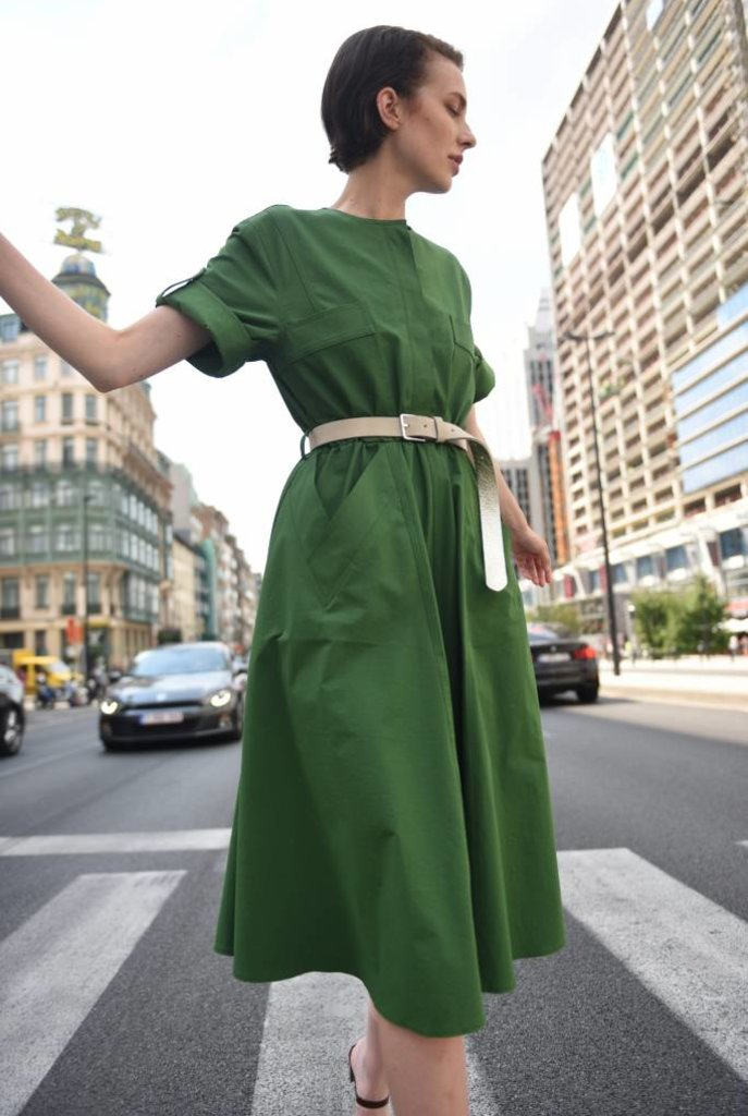 Solaris dress green