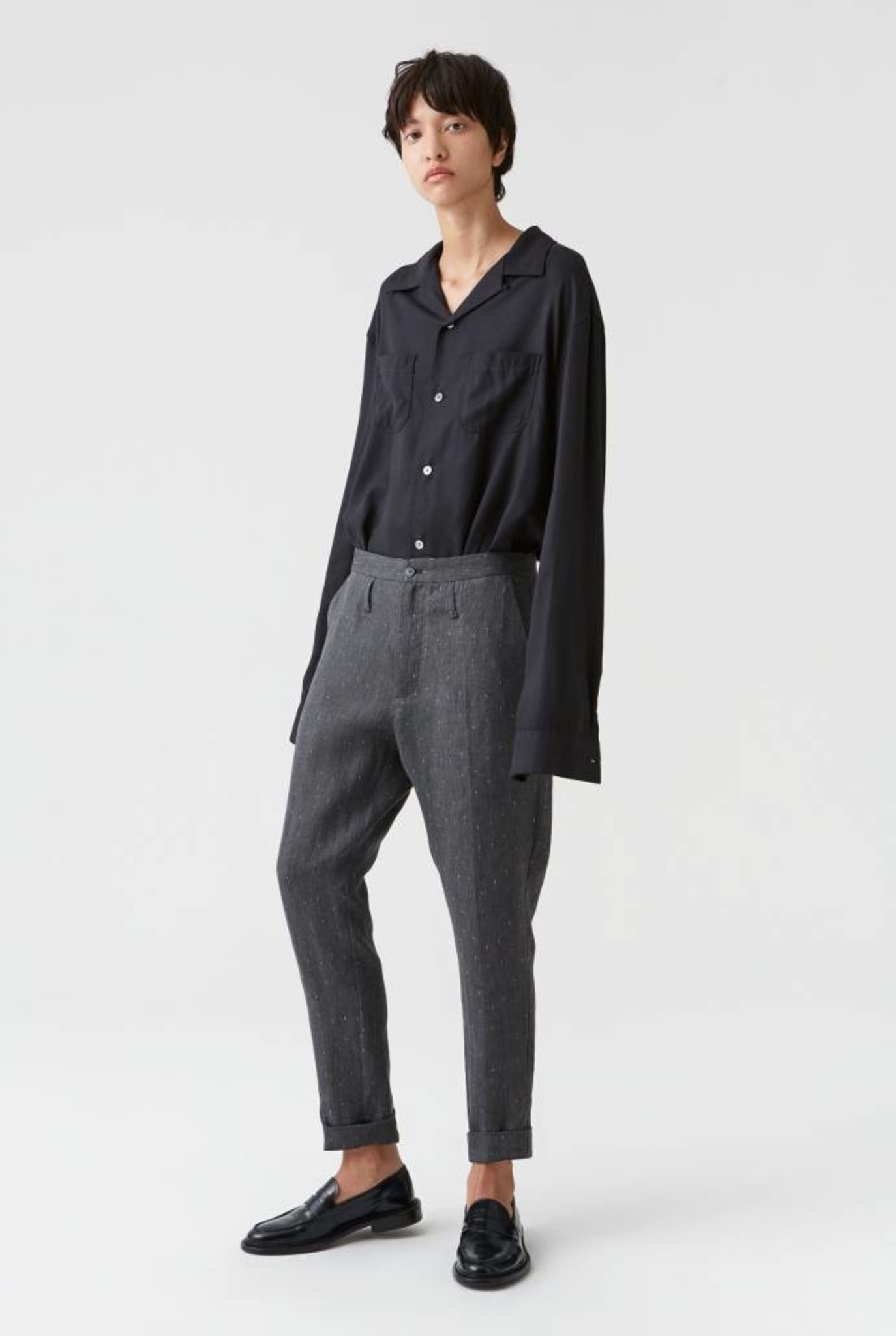 Law trouser black stripe