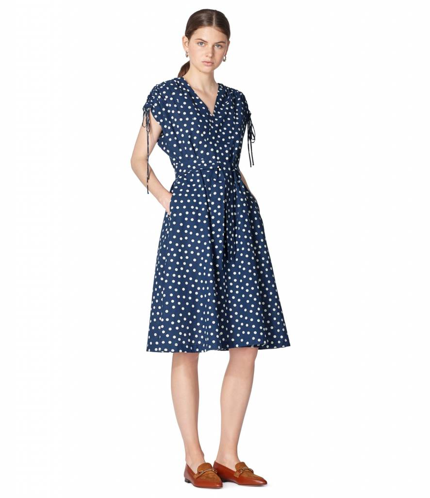 Clare dress blue