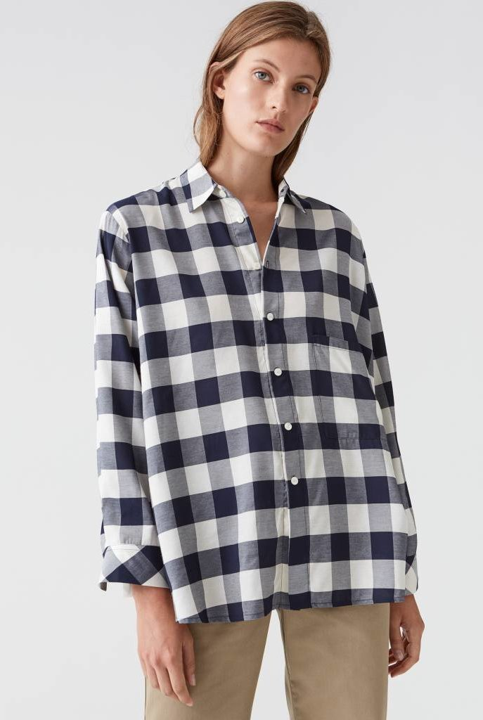 Elma shirt dark navy check